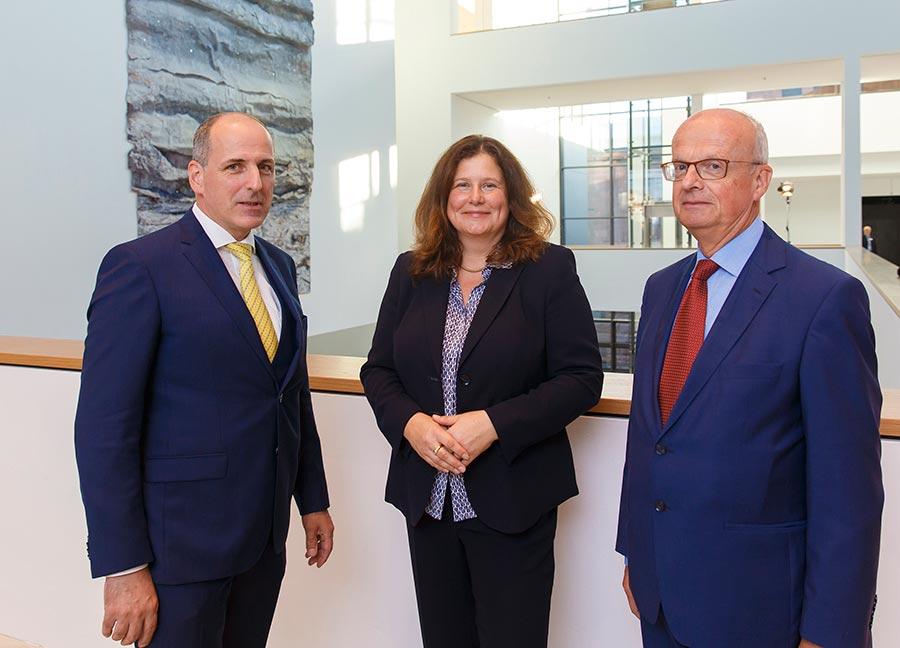 Vorstand des Förderkreises für die Kunsthalle Mannheim e.V.: Bernhard Siegel, Verena Eisenlohr, Prof. Dr. Dr. Peter Frankenberg, Foto: Dietrich Bechtel