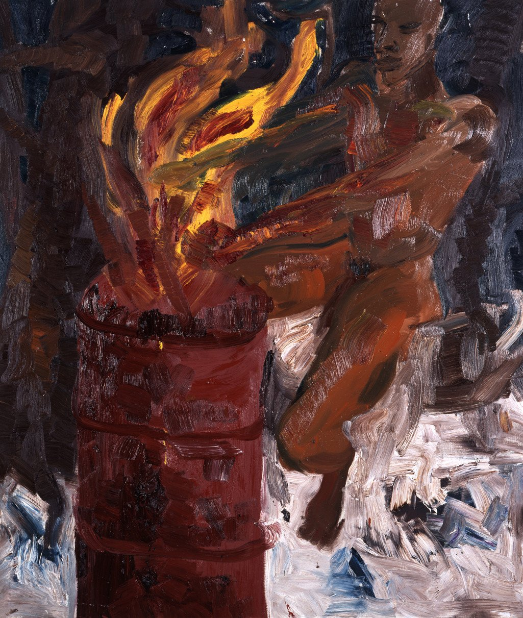 Rainer Fetting · Man and Fire