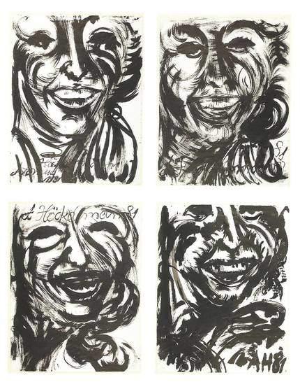Antonius Höckelmann · Gesicht mit Bogen