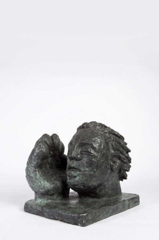 Der Atem, 1985, Bronze; Leihgabe des Förderkreises für die Kunsthalle Mannheim e.V. seit 1988; © Dieter Hacker, Kunsthalle Mannheim