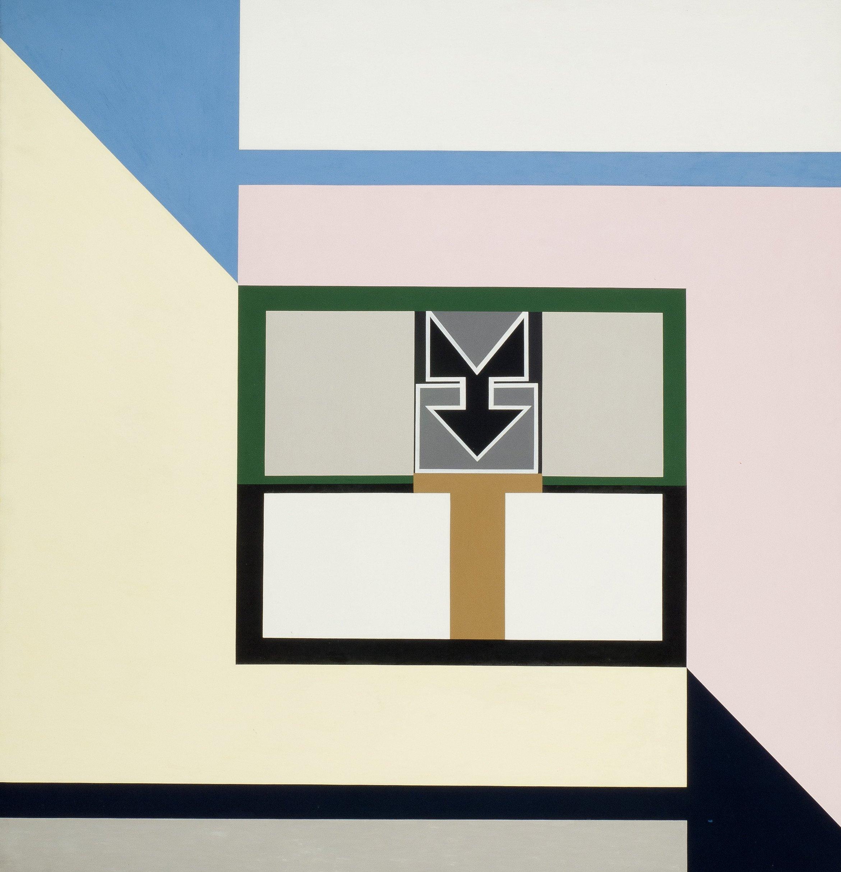 Diagonal Kompression, 1969, Öl auf textilem Bildträger; Leihgabe des Förderkreises für die Kunsthalle Mannheim e.V. seit 2011; © VG Bild-Kunst, Bonn 2013