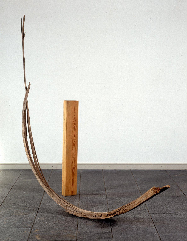 Der graue Garten III (zweiteilig), 1992, Holz; Leihgabe des Förderkreises für die Kunsthalle Mannheim e.V. seit 1996; gestiftet von Peter Eisenlohr; © Joanna Przybyla, Kunsthalle Mannheim