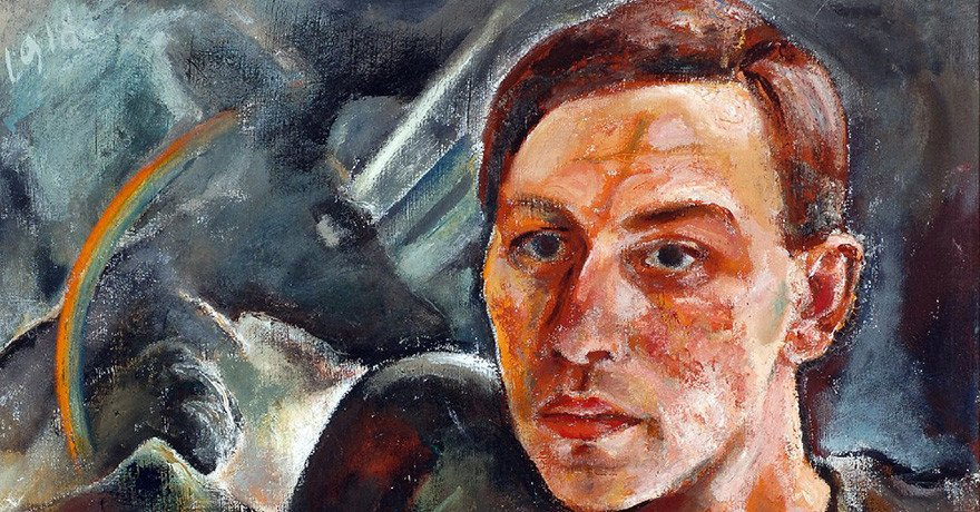 Willy Jaeckel (1888 – 1944), Selbstbildnis, 1918, Öl auf textilem Bildträger, 61 x 50 cm Kunsthalle Mannheim, Foto: Cem Yücetas