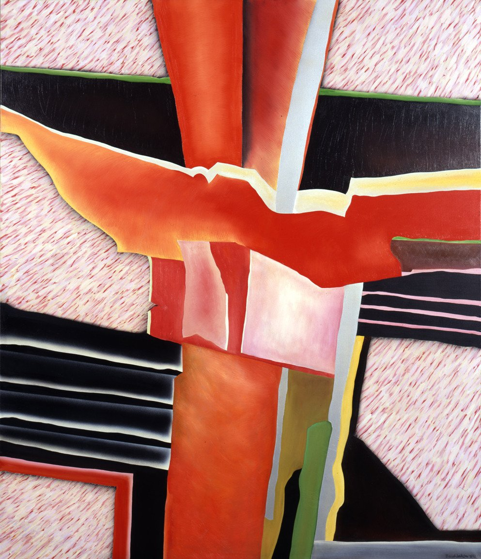 Schädelbergdetail, 1972, Acryl und Öl auf textilem Bildträger, Sammlung Kunsthalle Mannheim; Geschenk des Förderkreises für die Kunsthalle Mannheim e.V. seit 1981; © Archiv Brusberg, Berlin, Kunsthalle Mannheim