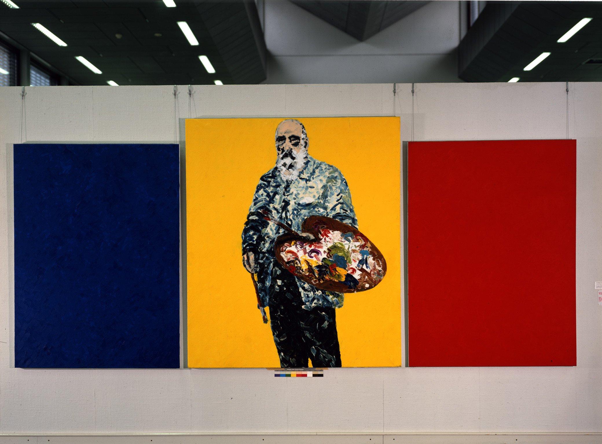 Claude Monet, Giverny um 1920 (dreiteilig), 1982, Öl auf textilem Bildträger; Leihgabe des Förderkreises für die Kunsthalle Mannheim e.V. seit 1986; © Friedemann Hahn , Kunsthalle Mannheim