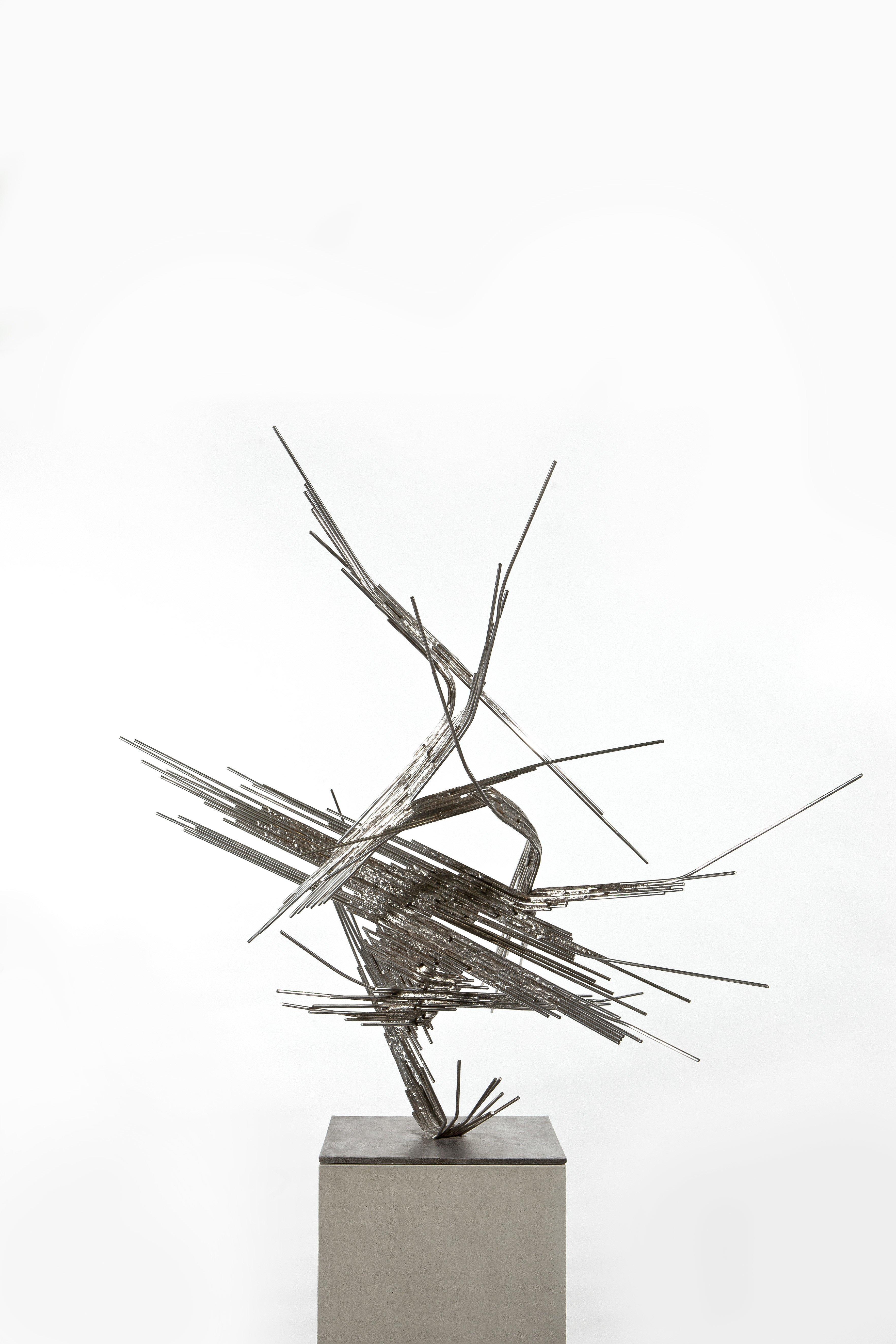 Raumplastik, 1960, Edelstahl, mit Silberhartlot geschweißt; Leihgabe des Förderkreises für die Kunsthalle Mannheim e.V. seit 1998; gestiftet von Heinrich Vetter, Ilvesheim; © Norbert Kricke Archiv, Berlin