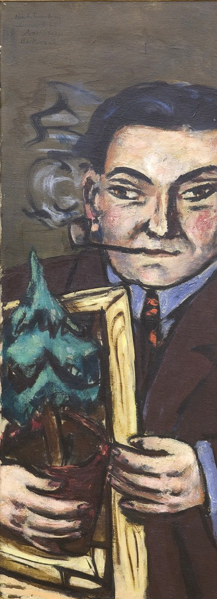 Tannenbaum geht nach New York, 1947, Öl auf textilem Bildträger; Erworben 2004 mit Mitteln der Kulturstiftung der Länder, der Kulturstiftung der Bundesrepublik Deutschland, des Förderkreises für die Kunsthalle Mannheim e.V., der MVV Energie AG, der Landesbank Baden-Württemberg, der Wilhelm Müller-Stiftung, der Heinrich-Vetter-Stiftung, der Fuchs Petrolub AG, der Mannheimer Versicherungs AG, der Inter-Versicherung sowie zahlreicher privater Sponsoren; © VG Bild-Kunst, Bonn 2013