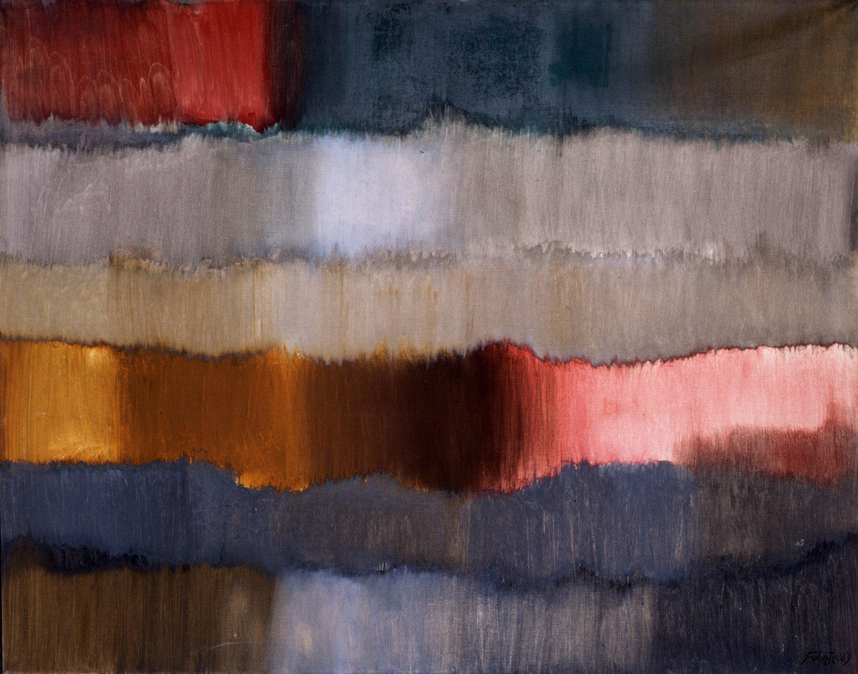 Horizonte, 1964, Öl auf textilem Bildträger; Leihgabe des Förderkreises für die Kunsthalle Mannheim e.V. seit 1999; Geschenk von Gisela und Hermann Freudenberg; © VG Bild-Kunst, Bonn 2013